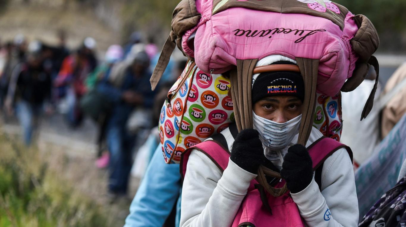 LA DEBACLE DE PDVSA - Página 19 Caminantes-venezolanos
